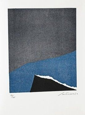 Литография Santomaso - Jean Cassou: vingt-deux poèms