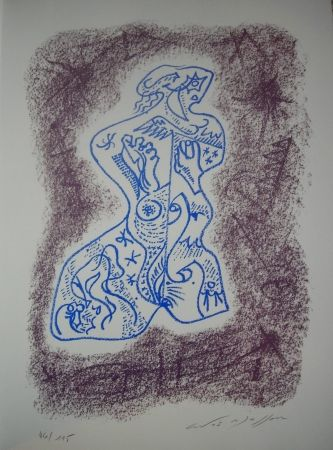 Литография Masson - Jean Cassou: vingt-deux poèms