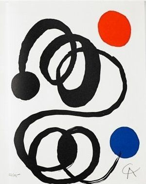 Литография Calder - Jean Cassou: vingt-deux poèms