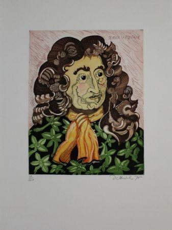 Офорт И Аквитанта Dittrich - Jean de la Fontaine