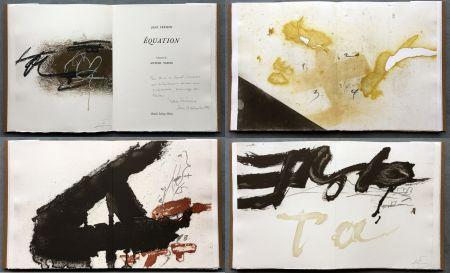 Иллюстрированная Книга Tàpies - Jean Frémon: ÉQUATION. 5 aquatintes en couleurs dont deux signées (1987)