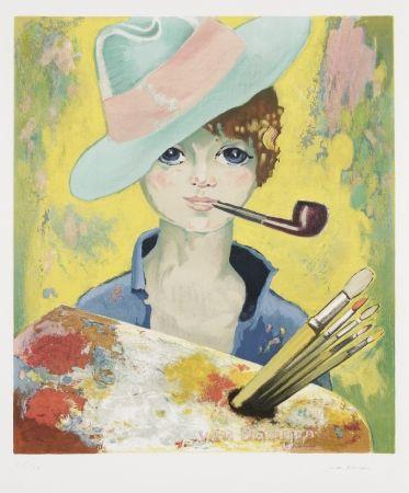 Литография Van Dongen - Jean Marie avec pipe