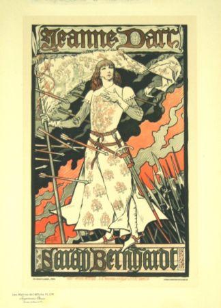 Литография Grasset - Jeanne D'arc  Les Maitre de L'affiche Planche 174