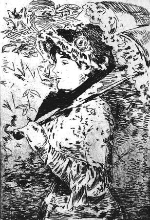 Офорт Manet - Jeanne ou le printemps
