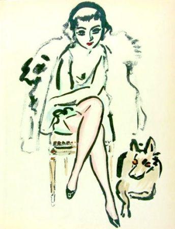 Трафарет Van Dongen - Jeune femme au chien