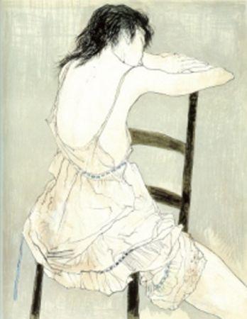 Литография Jansem - Jeune Fille au Jupon Rose