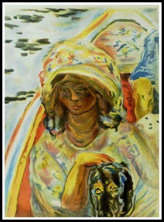 Литография Bonnard - JEUNE FILLE DANS UNE BARQUE
