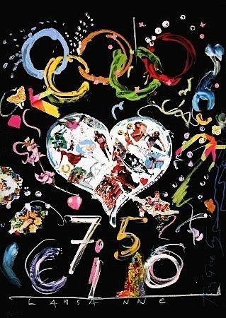 Литография Tinguely - Jeux olympiques 92