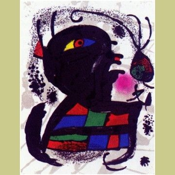 Иллюстрированная Книга Miró - Joan Miró Lithographs.  Catalogue Raisonné