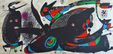 Литография Miró - Joan Miro - Miró Escultor . Gran Bretaña 40 X 20 Cm.firmada En Plancha