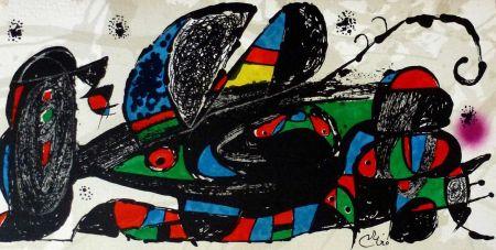 Литография Miró - Joan Miro - Miró Escultor . Irán 40 X 20 Cm.firmada En Plancha