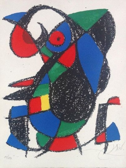 Литография Miró - Joan Miro Original lithograph, Pencil Signed & numbered 51 / 150