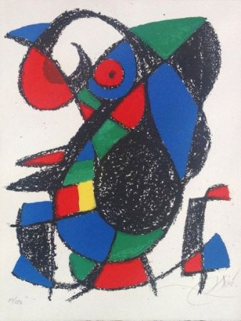 Литография Miró - Joan Miro Original lithograph, Pencil Signed & numbered 51 / 150