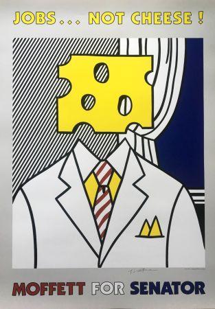 Литография Lichtenstein - Jobs... Not Cheese (Hand Signed)
