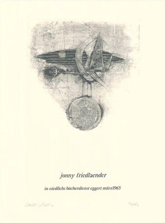 Офорт И Аквитанта Friedlaender - Jonny Friedlaender in niedlichs bücherdienst eggert märz 1965