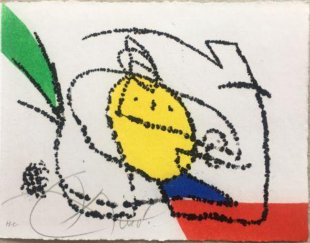 Иллюстрированная Книга Miró - Jordi de Sant Jordi : CHANSON DES CONTRAIRES. Avec une gravure de Joan Miró. 1976