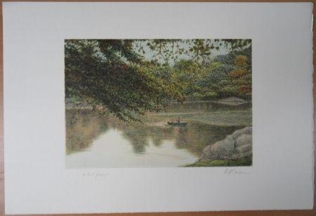Литография Altman - Journey on the lake