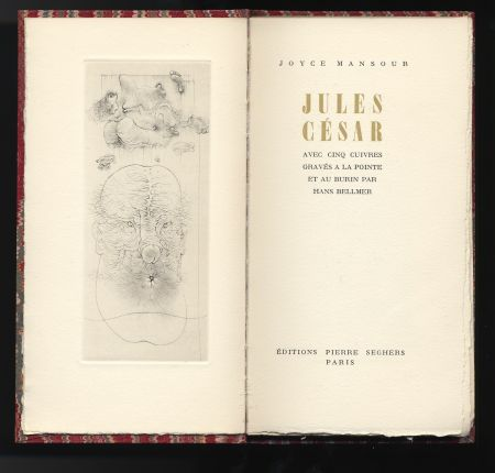 Иллюстрированная Книга Bellmer - Joyce Mansour : JULES CÉSAR. Avec 5 gravures de Hans Bellmer (1955).