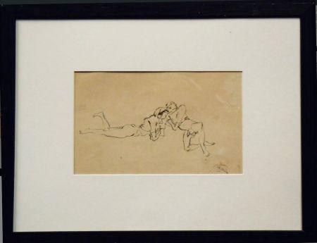 Нет Никаких Технических Pascin - Jules Pascin. Couple allongé, vers 1922. Dessin.