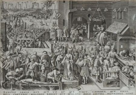Офорт Brueghel - Justice from The World of Seven Virtues