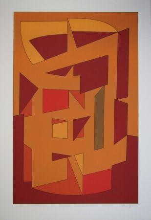 Литография Vasarely - KALLION - Gordes-Cristal periode