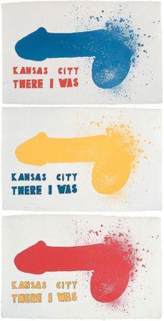 Литография Dine - Kansas City (3 sheets)