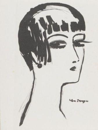 Литография Van Dongen - Kees Van Dongen(1877-1968) Les cheveux courts , 1924