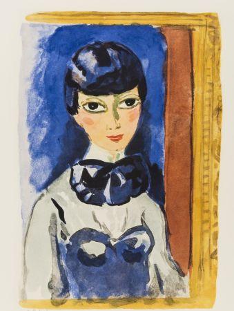 Литография Van Dongen - Kees Van DONGEN (1877-1968). Claudine, circa 1950. Lithographie signée.
