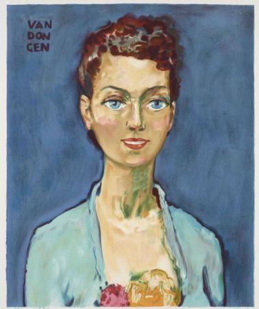 Литография Van Dongen - Kees van Dongen (1877-1968). Hommage à Marie-Claire. Lithographie signée.