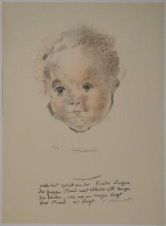 Литография Amiet - Kinderköpfchen