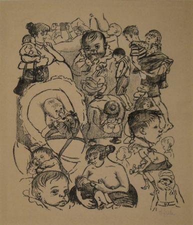 Литография Zille - Klein und Gross