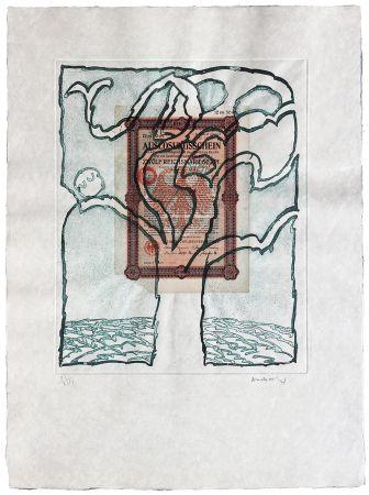 Офорт Alechinsky - Krach V.
