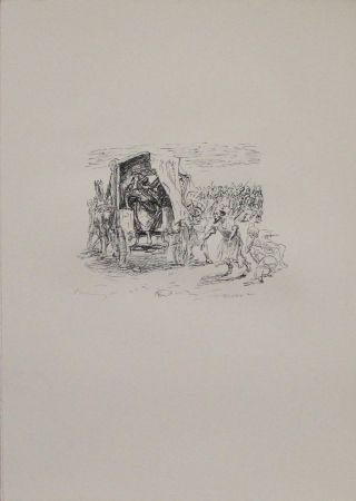 Литография Slevogt - Kyros zeigt Epyaxa sein Heer
