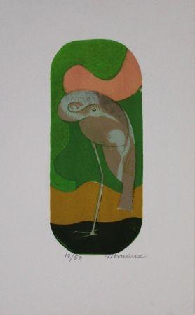 Литография Minaux - L'échassier / Wading Bird