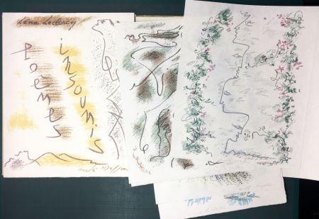 Иллюстрированная Книга Masson - Léna Leclercq. POÈMES INSOUMIS. 10 lithographies signées (1963)