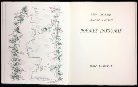 Иллюстрированная Книга Masson - Léna Leclercq. POÈMES INSOUMIS. 8 lithographies en couleurs (1963)