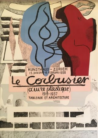 Литография Le Corbusier - L'Œuvre Plastique, Kunsthaus Zürich  (hand-signed)