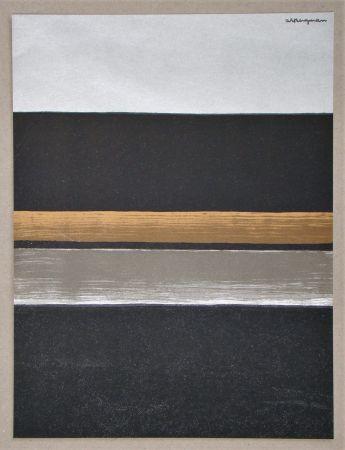 Литография Bergmann - L 11 - 1970 Horizon noir