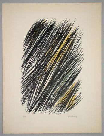 Литография Hartung - L 19 - 1957