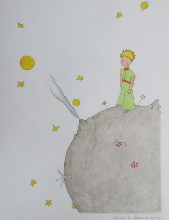 Литография Saint-Exupéry - L asteroîde B-612