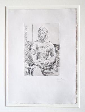 Гравюра Picasso -  L' Italienne (s. ta130) Femme au Livre