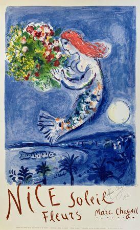 Литография Chagall - La Baie des Anges (Nice Soleil Fleurs)