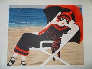 Литография Salomon - La belle a la plage
