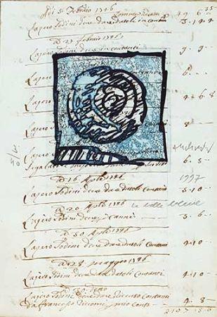 Гравюра Alechinsky - La belle bleue