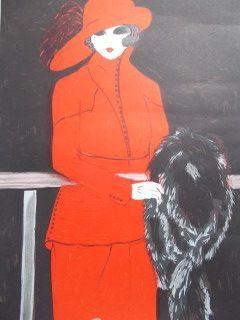 Литография Salomon - La belle en rouge