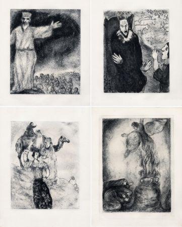 Офорт Chagall - LA BIBLE. (Suite des eaux-fortes gravées de 1931 à 1939 - Tériade 1956).