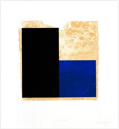Офорт Canogar - La Bienvenida (azul)