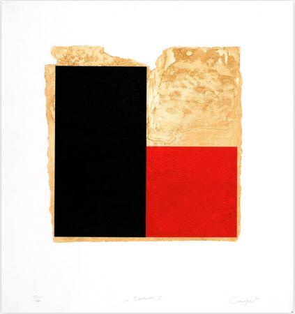 Офорт Canogar - La Bienvenida (rojo)