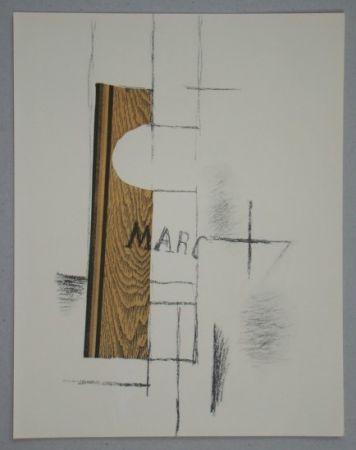 Трафарет Braque - La Bouteille De Marc - Papier Collé, 1913