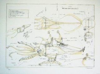 Литография Delarozière - La Calamar à retropropulsion